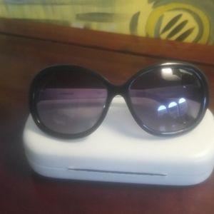 Polaroid  black and white framed sunglasses